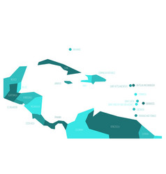 Map central america and caribbean simlified vector