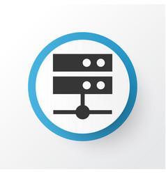 Media server icon symbol premium quality isolated vector