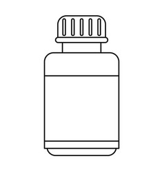 medicine bottle capsule icon thin line vector image