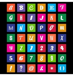 Metro Font Set vector