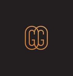 monogram gg vector image