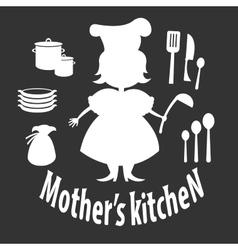 Mother kitchen vector