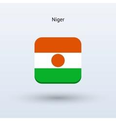 Niger flag icon vector