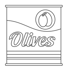 olives can icon outline style vector image