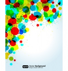 paint splashes corner vector image