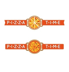 pizza time sign or logo vector image
