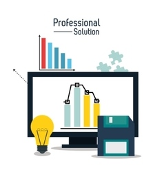 Professional solution technology design vector