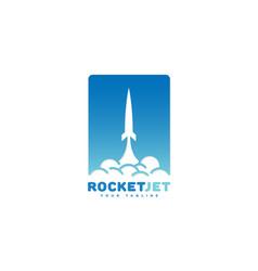 Rocket jet logo vector