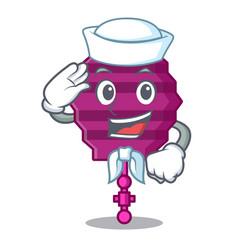Sailor paper lantern character cartoon vector