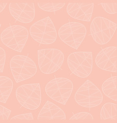 seamless leaves background subtle pink vector image