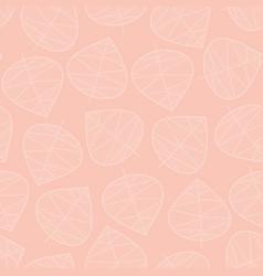 Seamless leaves background subtle pink vector