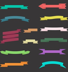 set of colorful ribbons with background vector image