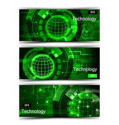 set of modern scientific banners vector image