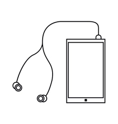 Smartphone earphones application modern outline vector