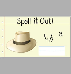 Spell it out hat vector