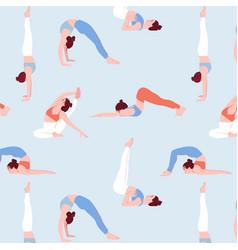 sport woman in flat girls set cartoon vector image