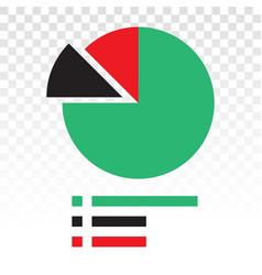 Statistical pie chart piechart flat icon vector