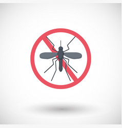 Stop mosquito flat icon vector