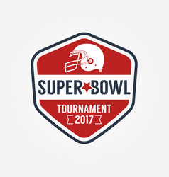Super bowl tournament logo sport design vector