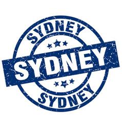 Sydney blue round grunge stamp vector
