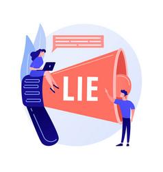 Telling lies concept metaphor vector