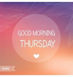 Thursday vector