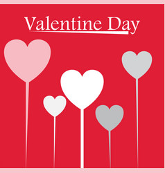 Valentine day heart balloon image vector