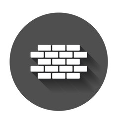 wall brick icon in flat style wall symbol with vector image