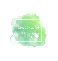 Watercolor splash logo idea vector