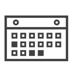 calendar line icon mobile and website vector image vector image