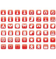 set of Christmas icons vector image