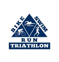 triathlon swim bike run race vector image