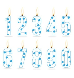 birthday numeral candles boy vector image