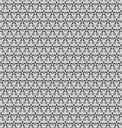 Black small and big stars on gray pattern vector image