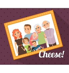 Family photo portrait vector image
