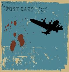 grunge postcard vector image vector image
