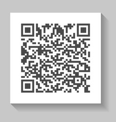 realistic qr code isolated icon vector image
