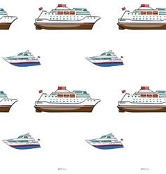 seamless pattern Hand drawn water transpor kids vector image