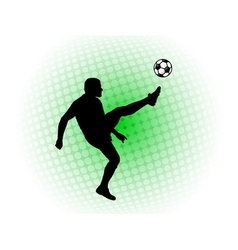 soccer player abstract background vector image vector image