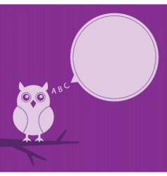 thinking owl vector image vector image