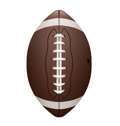 Front View of American Football Isolated vector image