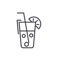 juice glassdrinks line icon sign vector image