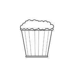 Pop corn line icon vector image