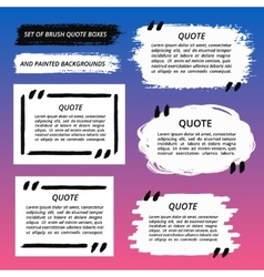 Quote Boxes and Brush Strokes Set vector image vector image