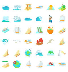 Saline icons set cartoon style vector
