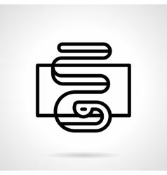 Serpentine icon black simple line style vector image