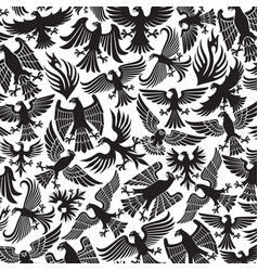 background pattern with eagles icons vector image vector image