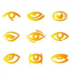 eye symbols vector image