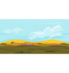 Fields Game Background Landscape vector image
