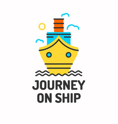 minimalistic posters of journey by boat ship vector image